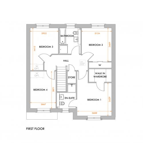 Selkirk first floor floorplan