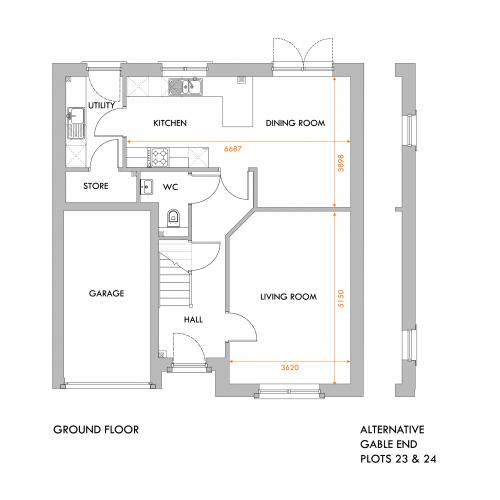Selkirk ground floor floorplan