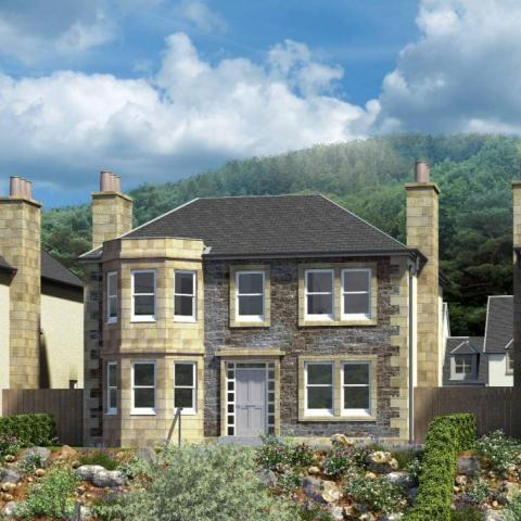 CGI of Ettrick house type