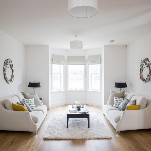 Living Room of Showhome