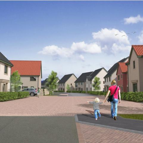 CGI of Aberlady development