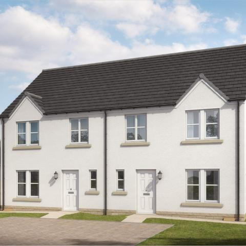 CGI of house type 5 at Mains Farm