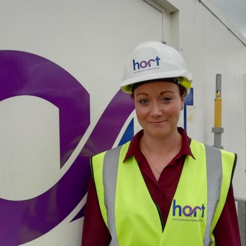 Amy Newlands Hart Builders first female assistant site manager