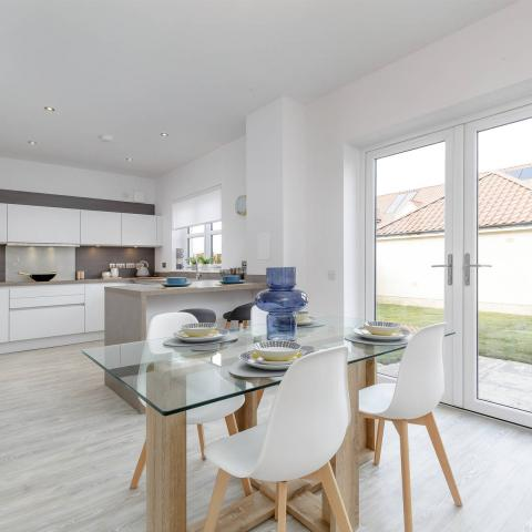 Meadowside show home kitchen/dining