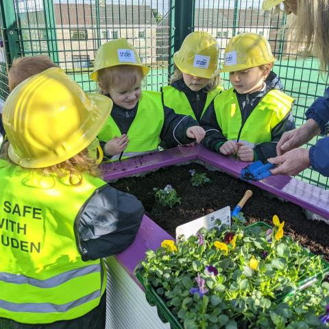 Nursery children from Inverclyde school