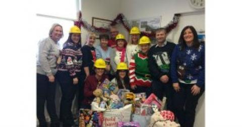 Christmas jumpers at Hart Builders