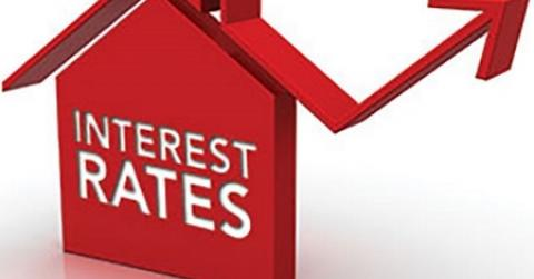 Interest rate rise house image