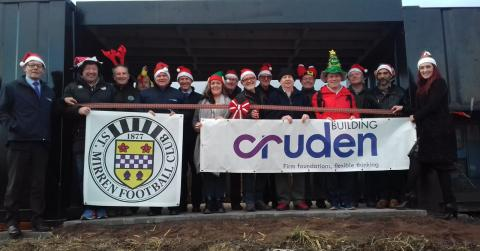 Representatives from CBRL, the Star Project and St Mirren Community Trust with members of the Men's Shed